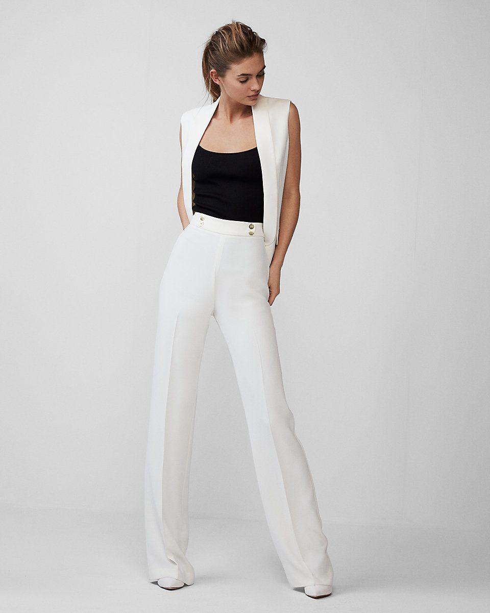 18 Flattering High Waisted Trousers That Aren T Paper Bag Waist