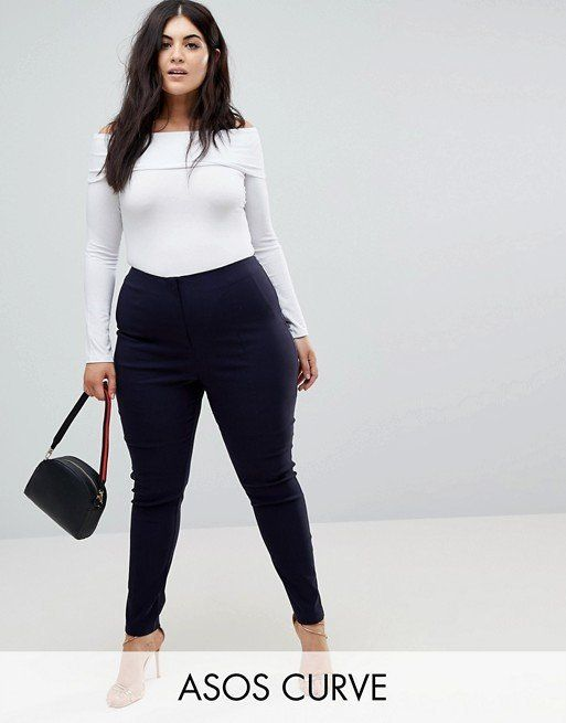 """Get them at <a href=""""http://us.asos.com/asos-curve/asos-curve-high-waist-pants-in-skinny-fit/prd/8675405?clr=navy&SearchQ"""