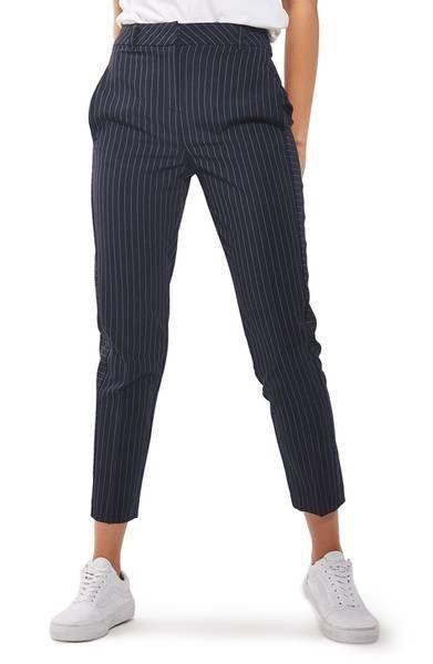 "Get them at <a href=""https://shop.nordstrom.com/s/topshop-cut-about-pinstripe-cigarette-trousers/4650506?origin=keywordsearch"