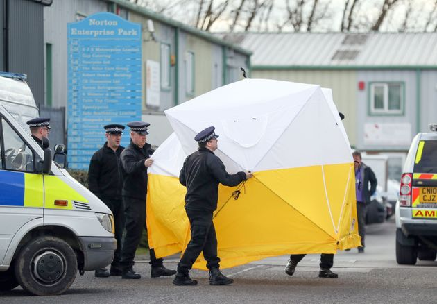 Emergency personnel in Salisbury as the investigation into the suspected nerve agent attack on Russian...