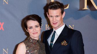 LONDON, ENGLAND - NOVEMBER 21:  Claire Foy and Matt Smith attend the World Premiere of season 2 of Netflix 'The Crown' at Odeon Leicester Square on November 21, 2017 in London, England. (Photo by Joe Maher/FilmMagic)