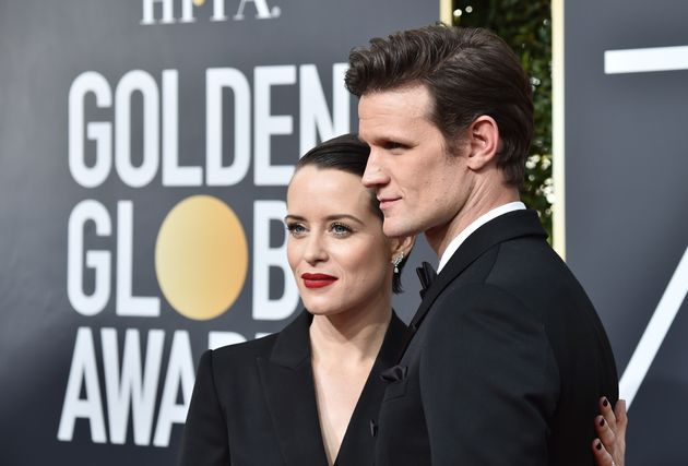 Claire Foy and Matt Smith at the 2018 Golden Globes