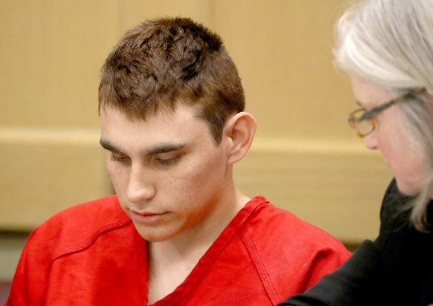 Nikolas Cruz, 19, appears in court in Fort Lauderdale, Florida, on Feb.