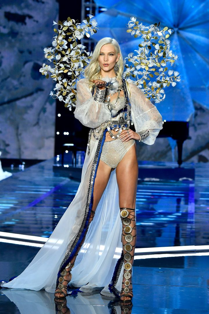 48a7983f4cd Kloss nbsp walking the runway during the 2017 Victoria s Secret Fashion Show .