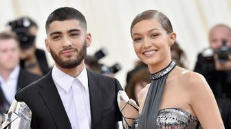 NEW YORK, NY - MAY 02:  Zayn Malik (L) and Gigi Hadid attend the 'Manus x Machina: Fashion In An Age Of Technology' Costume Institute Gala at Metropolitan Museum of Art on May 2, 2016 in New York City.  (Photo by Mike Coppola/Getty Images for People.com)