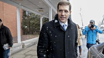 Conor Lamb, Democratic candidate for the U.S. House of Representatives, walks to his vehicle outside the Our Lady of Victory Church polling location in Carnegie, Pennsylvania, U.S. on Tuesday, March 13, 2018. Lamb and Republican Rick Saccone are competing in the 18th District, where President Donald Trump won by almost 20 points in the 2016 presidential election, to replace Republican Tim Murphy who resigned last October amid personal scandal. Photographer: Andrew Harrer/Bloomberg via Getty Images