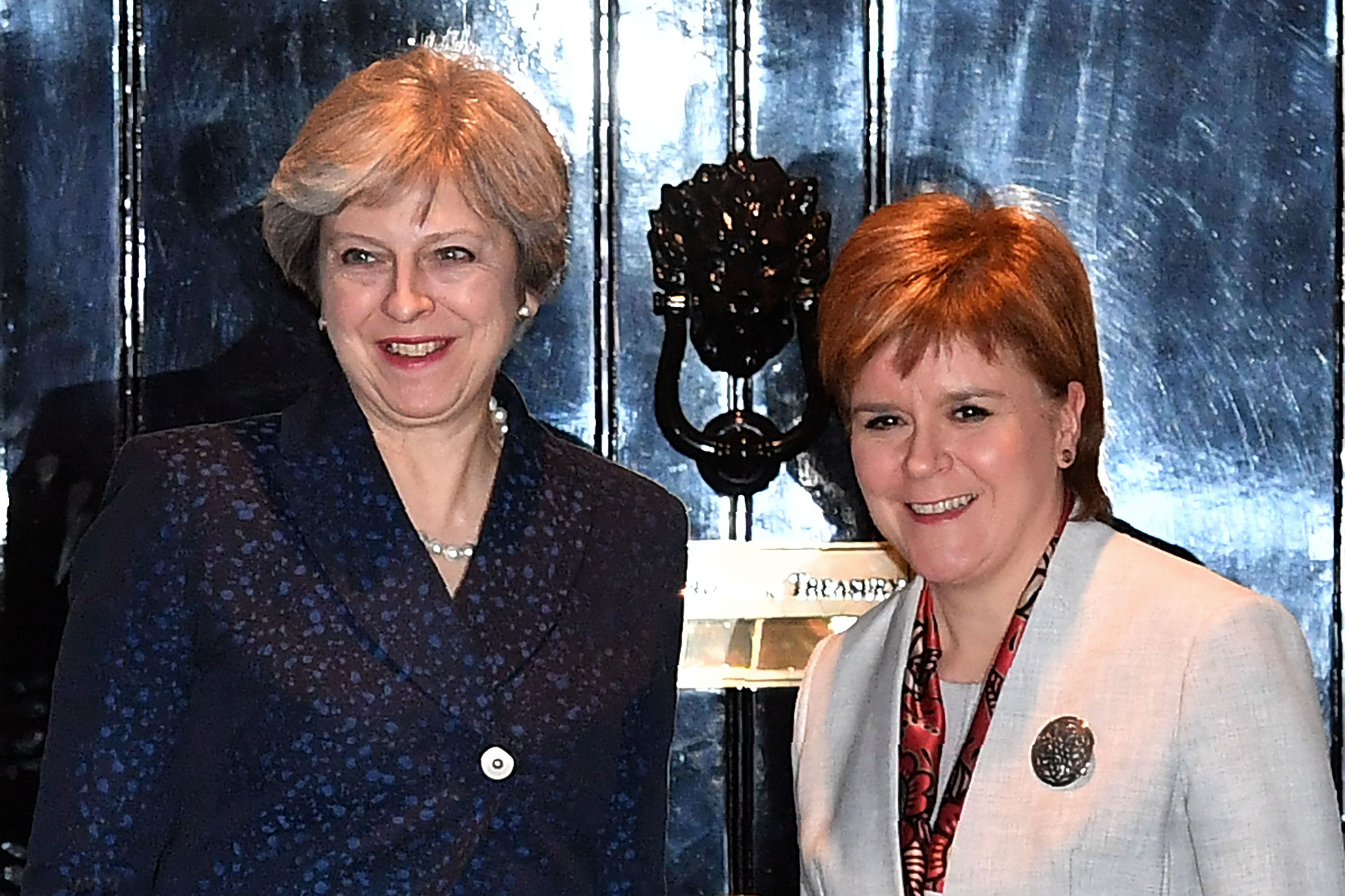 Theresa May and Nicola Sturgeon.
