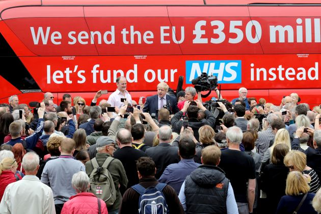 The Vote Leave bus linked spending on the NHS with the cost of EU