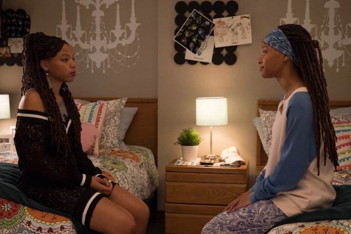 "Twins Jazlyn and Skyler struggle to hit a dating stride on an episode of ""Grown-ish."""