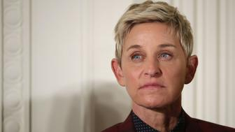 WASHINGTON, DC - NOVEMBER 22:  Comedian and talk show host Ellen DeGeneres listens to President Barack Obama before being awarded the Presidential Medal of Freedom during a ceremony in the East Room of the White House November 22, 2016 in Washington, DC. Obama presented the medal to 19 living and two posthumous pioneers in science, sports, public service, human rights, politics and the arts.  (Photo by Chip Somodevilla/Getty Images)