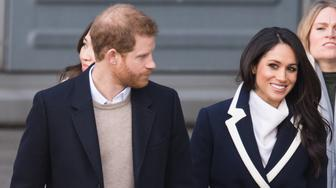 BIRMINGHAM, ENGLAND - MARCH 08:  Meghan Markle and Prince Harry visit Millennium Point on March 8, 2018 in Birmingham, England.  (Photo by Samir Hussein/Samir Hussein/WireImage)