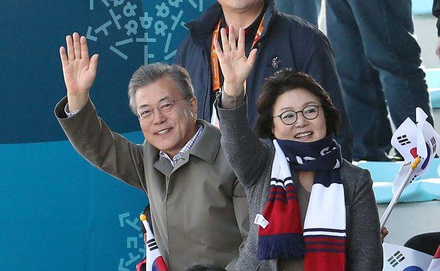패럴림픽 경기장 어디에도 김정숙 여사가