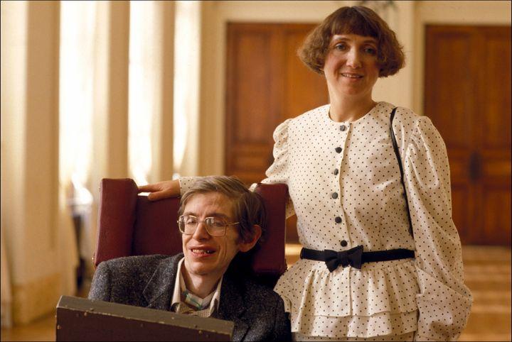 Hawking in Paris in 1989.