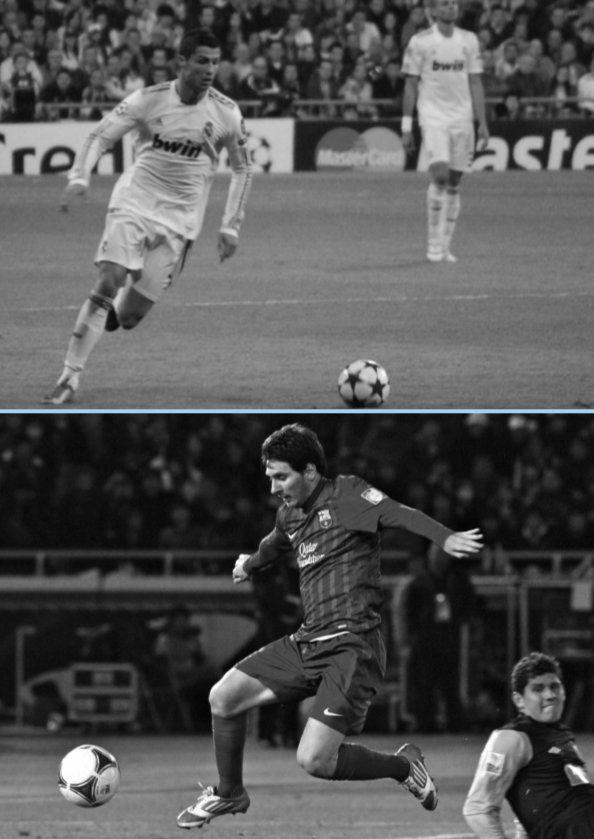 축구 역사상 최고의 선수이자 금세기 최고의 라이벌 크리스티아누 호날두(위)와 리오넬