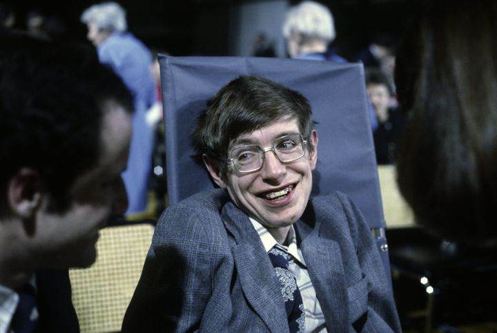 Hawking pictured in 1979 aged 27.