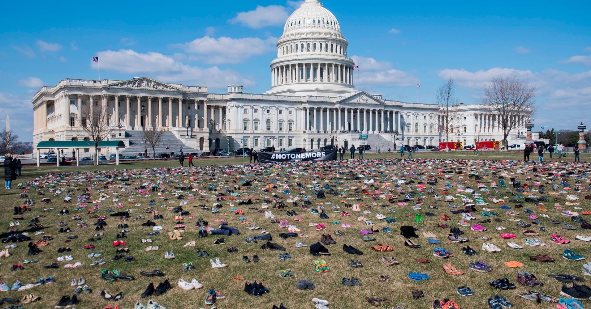 7,000 Pairs Of Shoes On Capitol Lawn Are Powerful Nod To Gun Violence
