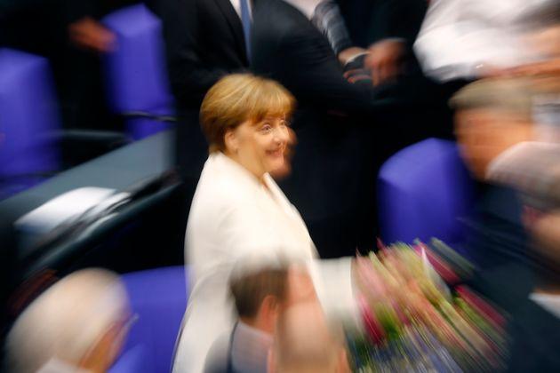 Angela Merkel im Bundestag.
