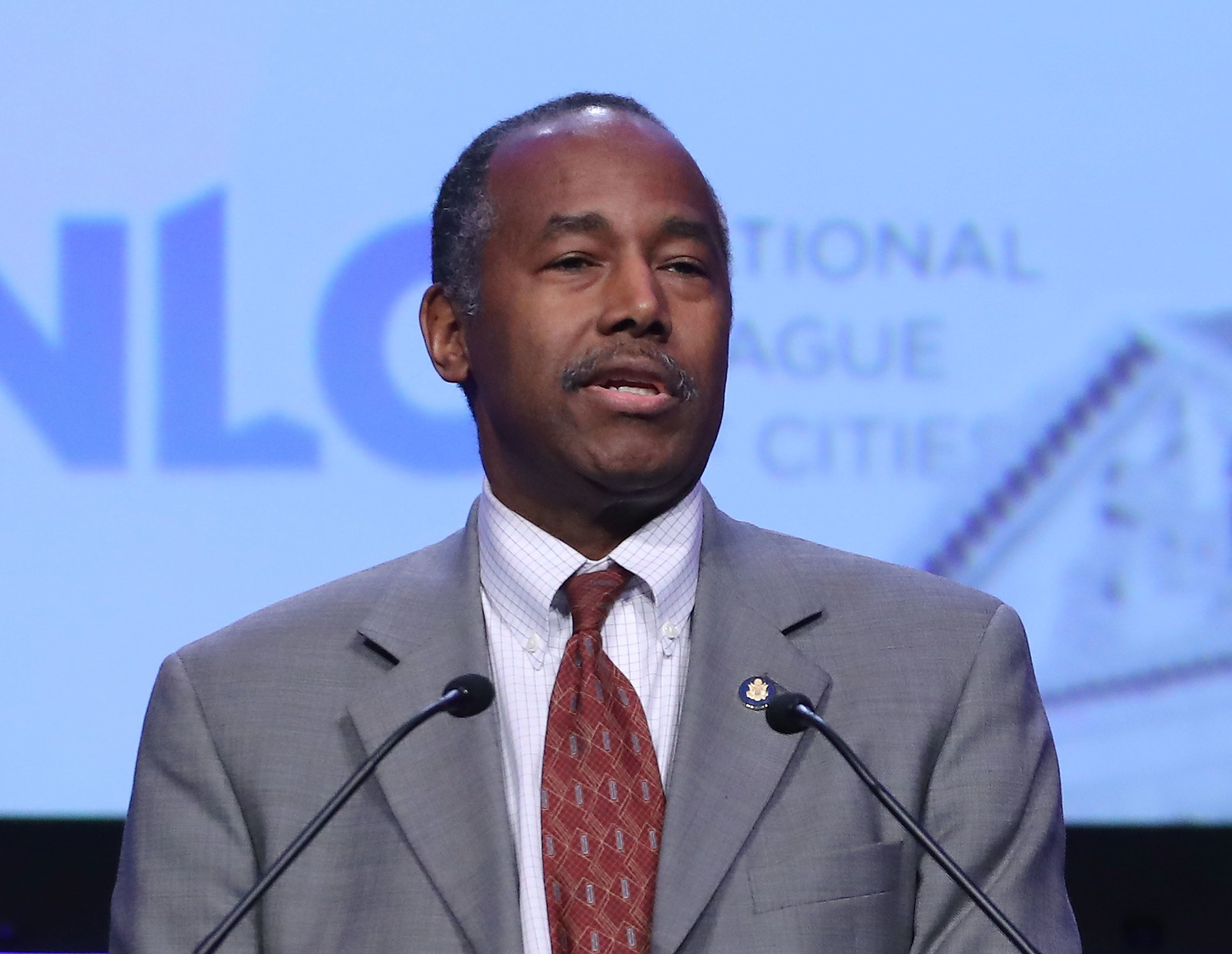 Mark Wilson via Getty Images HUD Secretary Ben Carson previously denied having any involvement in the purchase of furniture for his office