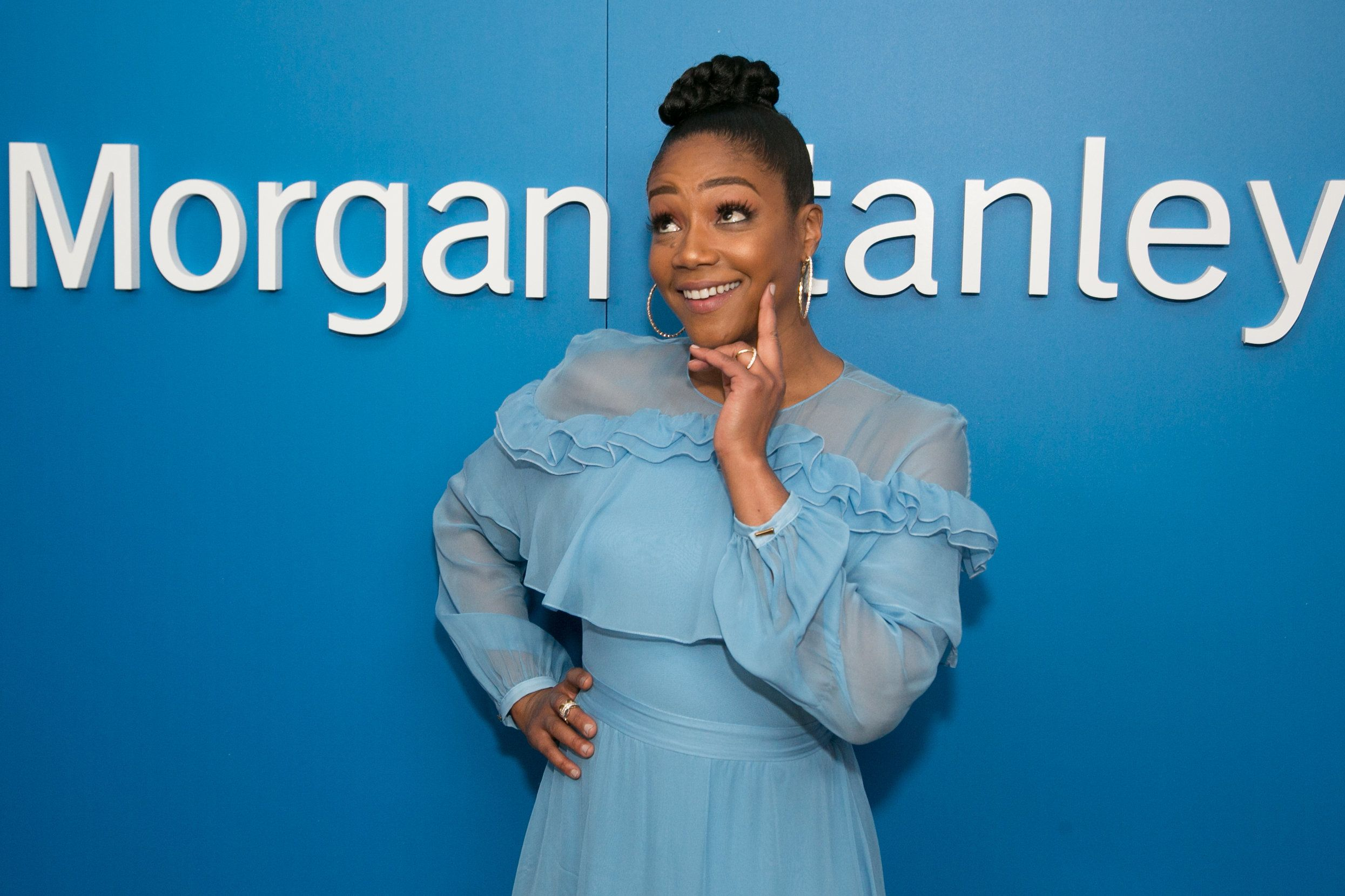 LOS ANGELES, CA - FEBRUARY 28:  Tiffany Haddish attends Alfre Woodard and Morgan Stanley present the 9th Annual Oscar's Sistahs Soiree on February 28, 2018 in Los Angeles, California.  (Photo by Gabriel Olsen/WireImage,)