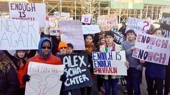 Students protest in New York City