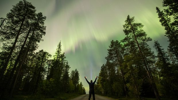 The Aurora Borealis (Northern Lights) is seen over the sky near the village of Pallas (Muonio region) of Lapland, Finland September 8, 2017.  REUTERS/Alexander Kuznetsov/All About Lapland     TPX IMAGES OF THE DAY