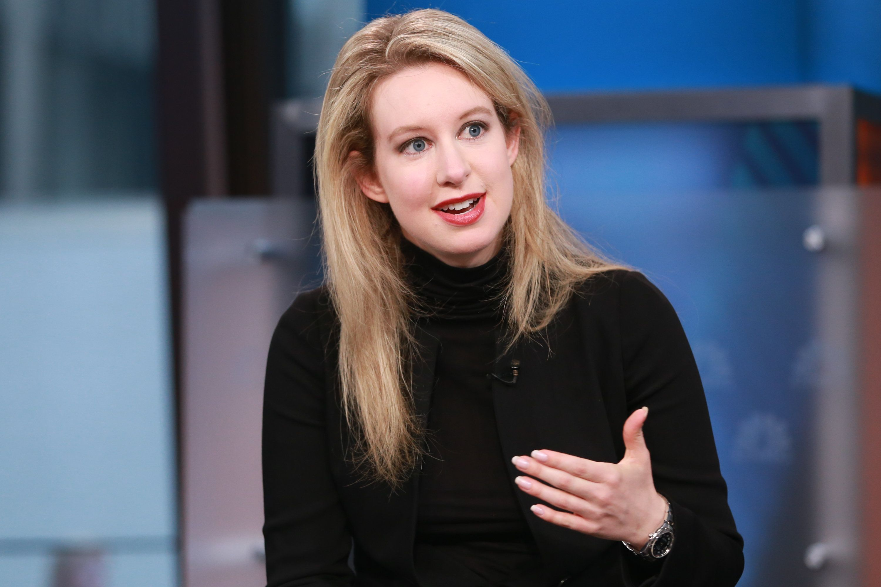 SQUAWK BOX -- Elizabeth Holmes, Theranos CEO and the world's youngest self-made female billionaire, in an interview on September 29, 2015 -- (Photo by: David Orrell/CNBC/NBCU Photo Bank via Getty Images)