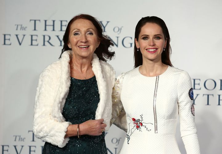 "Jane Hawking and Felicity Jones attend the U.K. Premiere of ""The Theory Of Everything."""
