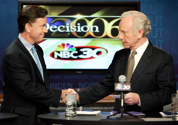 On July 6, 2006, businessman Ned Lamont debated Sen. Joe Lieberman (D-Conn.). Lamont beat Lieberman in the primary, but Lieberman ran as an independent and won in the general election.