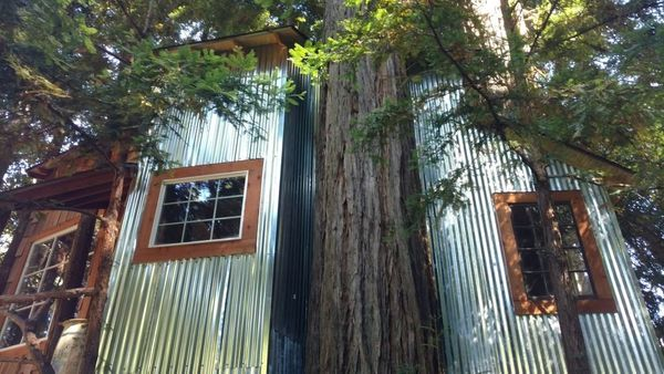 This treehouse is nestled in the Old Growth Redwoods and is perfect for nature-loving travelers. With lofty ceilings, an oak