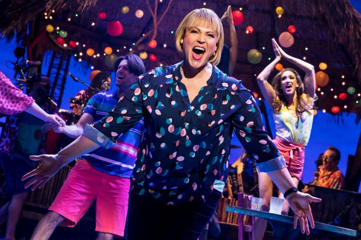 "Lisa Howard plays a beleaguered bride-to-be in ""Escape to Margaritaville,"" which opened March 15 in New York."