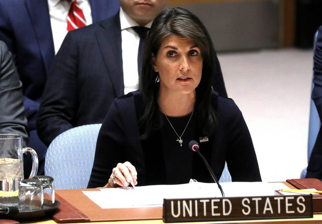 US Ambassador to the United Nations, Nikki Haley.