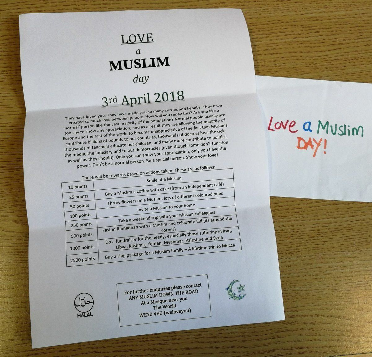Love a Muslim (To) Day