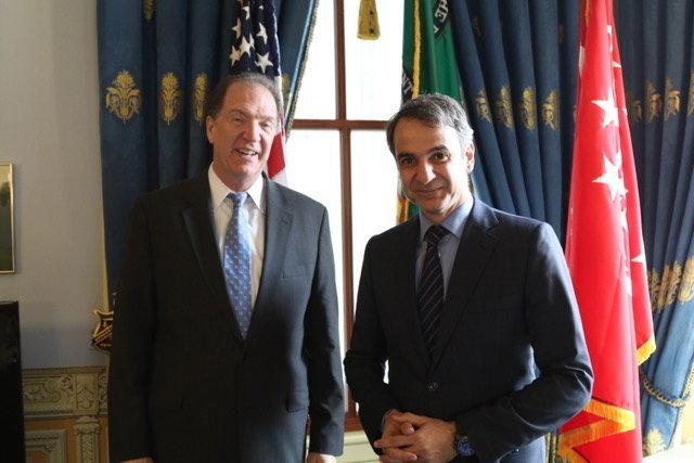Το σχέδιό του για την προσέλκυση ξένων επενδύσεων παρουσίασε ο Μητσοτάκης στις επαφές του σε Κογκρέσο και Στέιτ