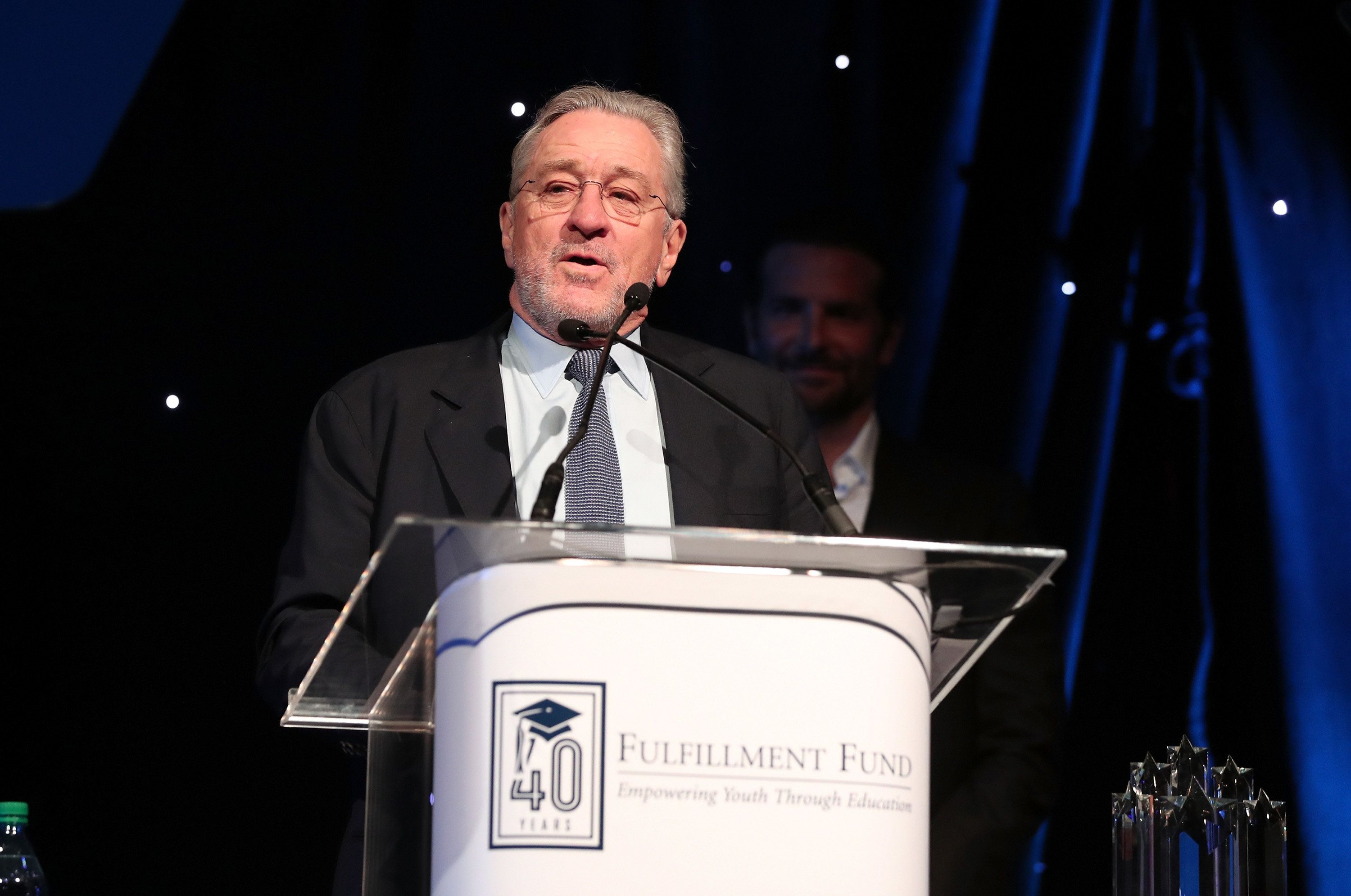 HOLLYWOOD, CA - MARCH 13:  Robert De Niro speaks onstage during A Legacy Of Changing Lives presented by the Fulfillment Fund at The Ray Dolby Ballroom at Hollywood & Highland Center on March 13, 2018 in Hollywood, California.  (Photo by Christopher Polk/Getty Images)