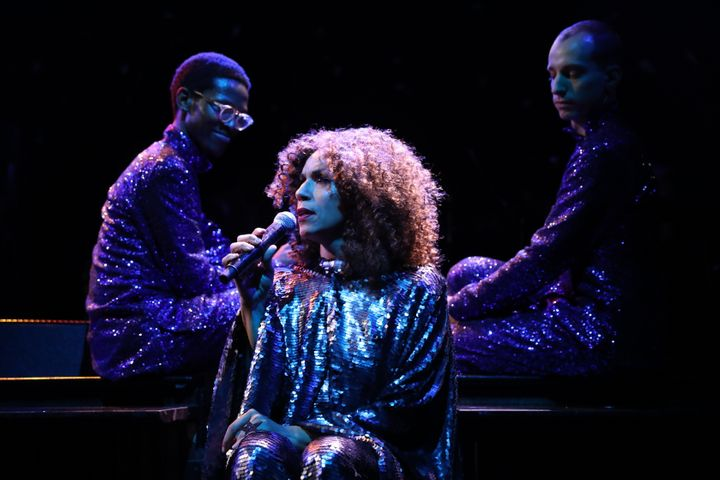 "Daniel Alexander James performs as Jomama Jones in ""Black Light,"" now playing in New York."