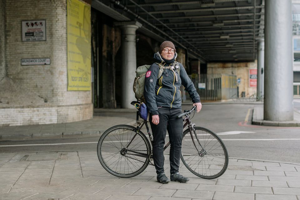 Maggie Dewhurst works as a gig economy cycle