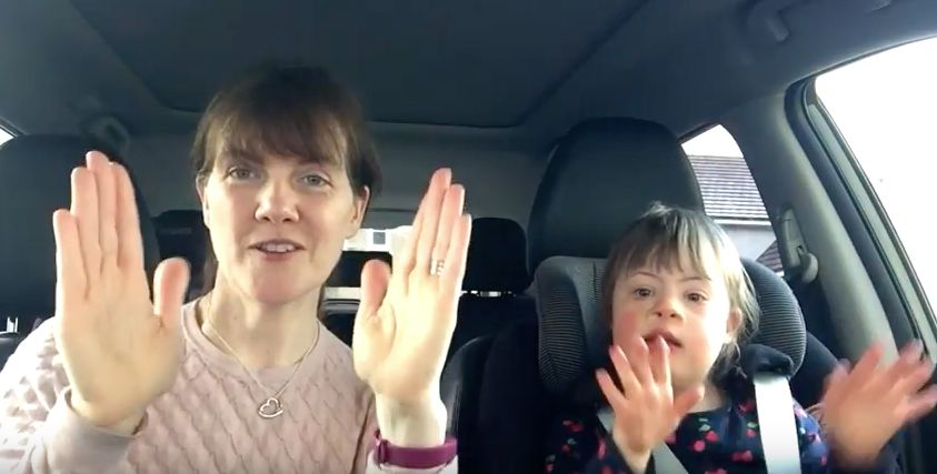 'Carpool Karaoke'-style video celebrating children with Down syndrome goes viral