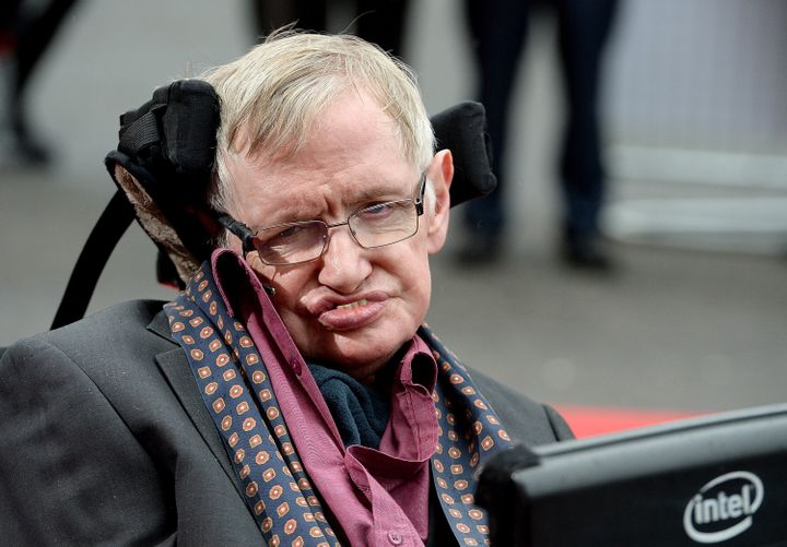 "When the media insists on discussing Hawking's disability as something he ""overcame"" or ""conquered,&r"
