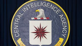 The seal of the Central Intelligence Agency (CIA) is seen at CIA Headquarters in Langley, Virginia, April 13, 2016. / AFP PHOTO / SAUL LOEB        (Photo credit should read SAUL LOEB/AFP/Getty Images)