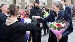 Theresa May Fist Bumps A Member Of The Public In