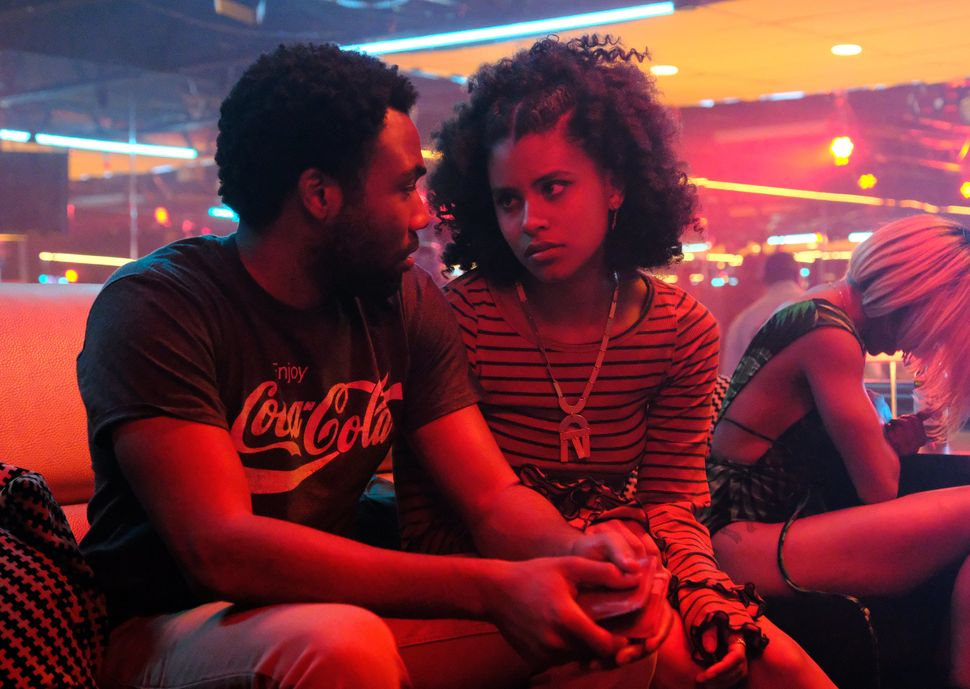 "Donald Glover and Zazie Beetz in Season 2, Episode 3 of ""Atlanta."""