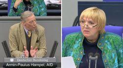AfD-Mann lästert über die Bundeswehr – das wird Grünen-Frau Roth zu viel