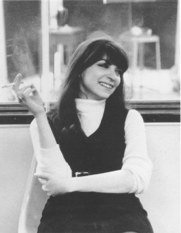 "Margo Guryan in the studio recording 1968's ""Take a Picture."""