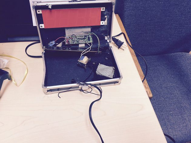 A homemade clock made by Ahmed Mohamed, 14, is seen in an undated picture released by the Irving Texas...
