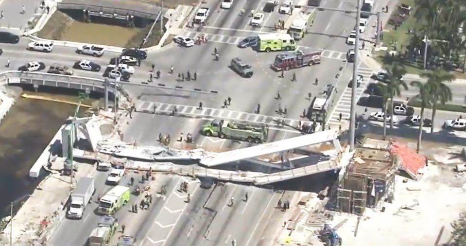 Several people are reportedly dead following apedestrian bridge collapse in Miami on