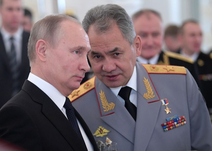 Putin and Defense Minister Sergei Shoigu.