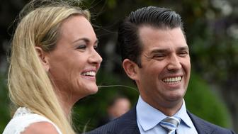 WASHINGTON, DC - APRIL 17: Vanessa Trump and Donald Trump, Jr. attend the 139th White House Easter Egg Roll at The White House on April 17, 2017 in Washington, DC.  (Photo by Leigh Vogel/WireImage)