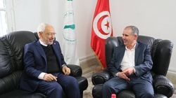 Rencontre entre Rached Ghannouchi et Noureddine Taboubi qui