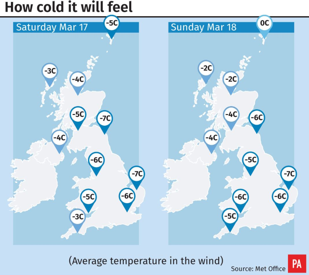 Snow and ice warnings in place for Saturday and Sunday