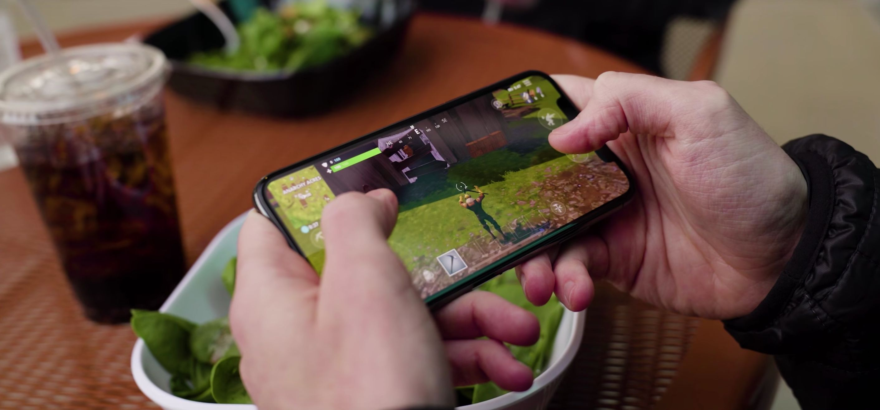 Fortnite is great, but it coms with in-app purchases and the ability to chat to